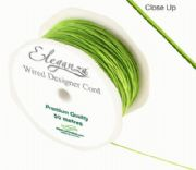 1mm x 50m Wired Designer Cord Lime Green
